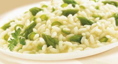 risotto con puntr di asparagi