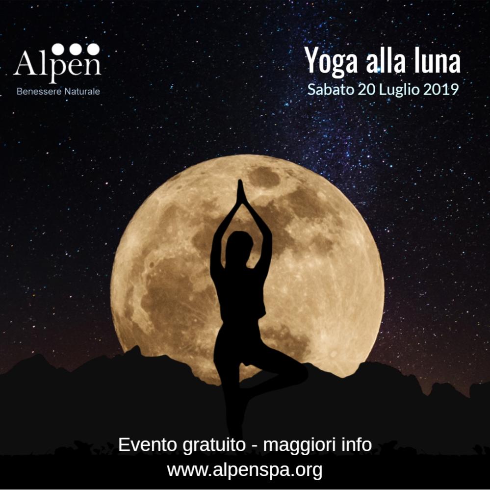 Yoga alla Luna Evento Alpen SPA 20 luglio 2019